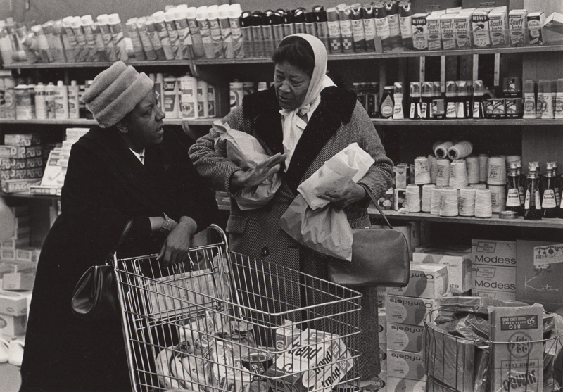 Untitled (two woman grocery shopping) , c. 1960's  Vintage silver print  8 x 10 inches