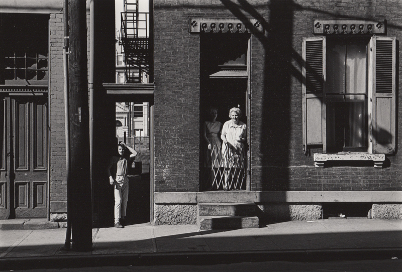 Untitled (women in doorway) , c. 1960's  Vintage silver print  8 x 10 inches