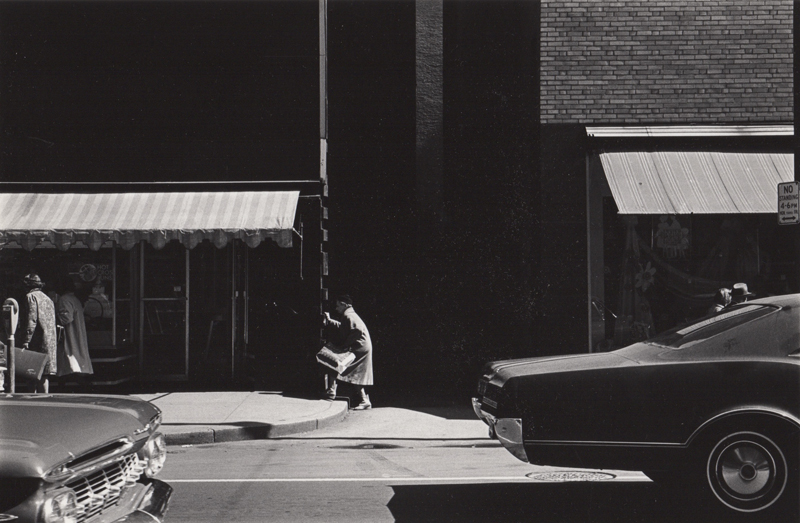 Untitled (woman ascending step) , c. 1960's  Vintage silver print  8 x 10 inches