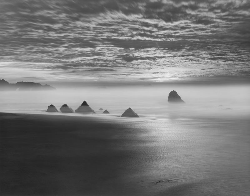 Chip Hooper   Triangle Rocks, Garrapata Beach , 1998 Silver print 20 x 24 inches 26 x 36 inches All inclusive edition of 90