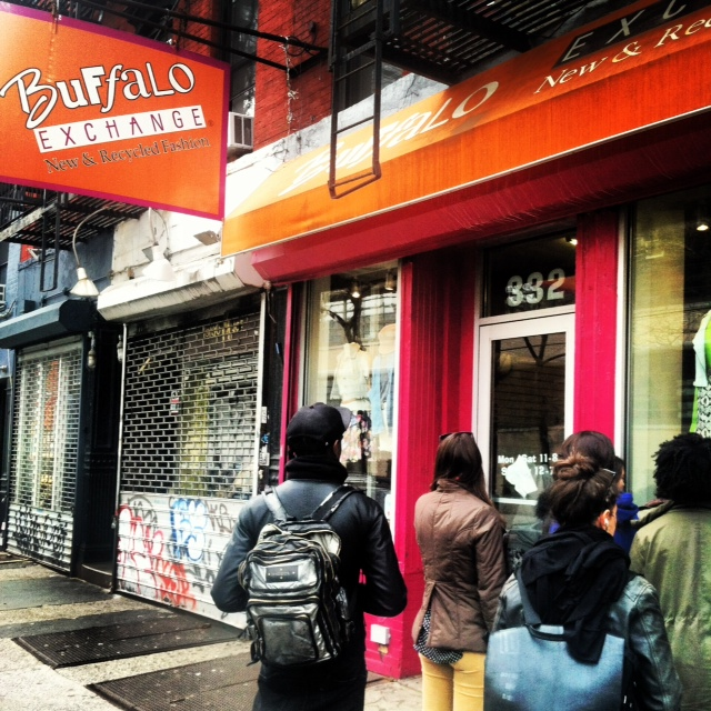 Lining up for the annual $1 sale at BX's East Village location.