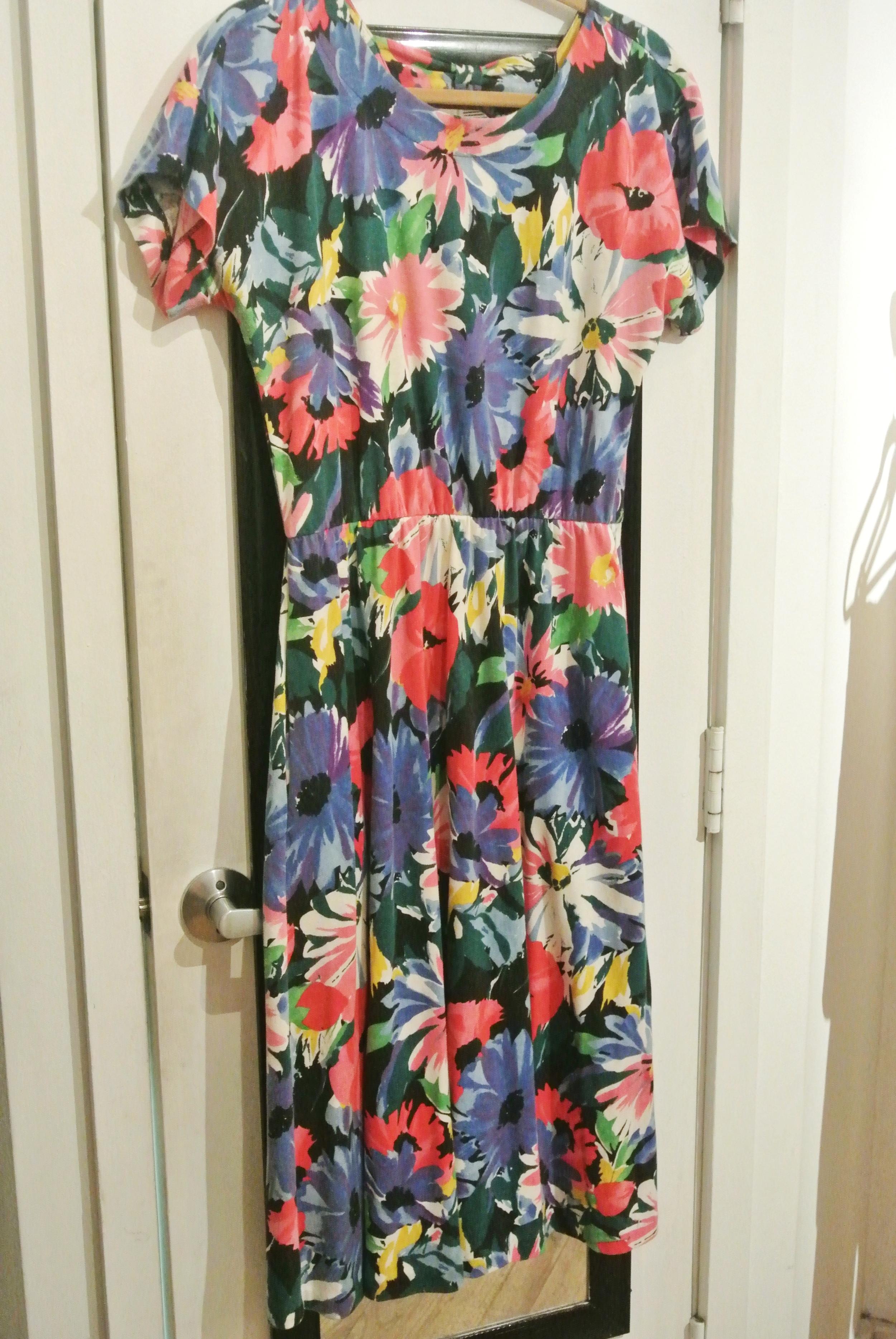 Floral vintage dress, $18
