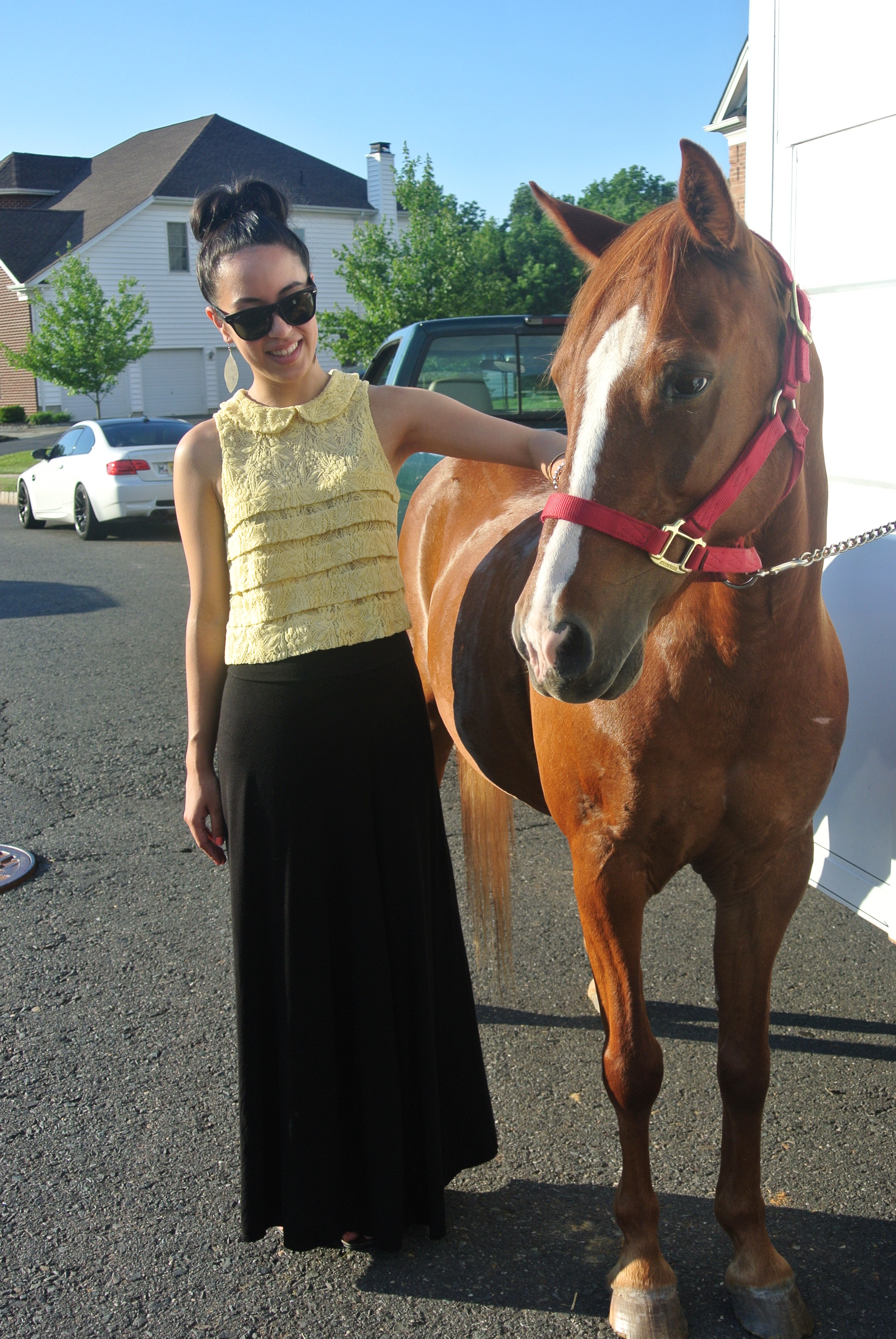 With Apple, one of TWO ponies at the party