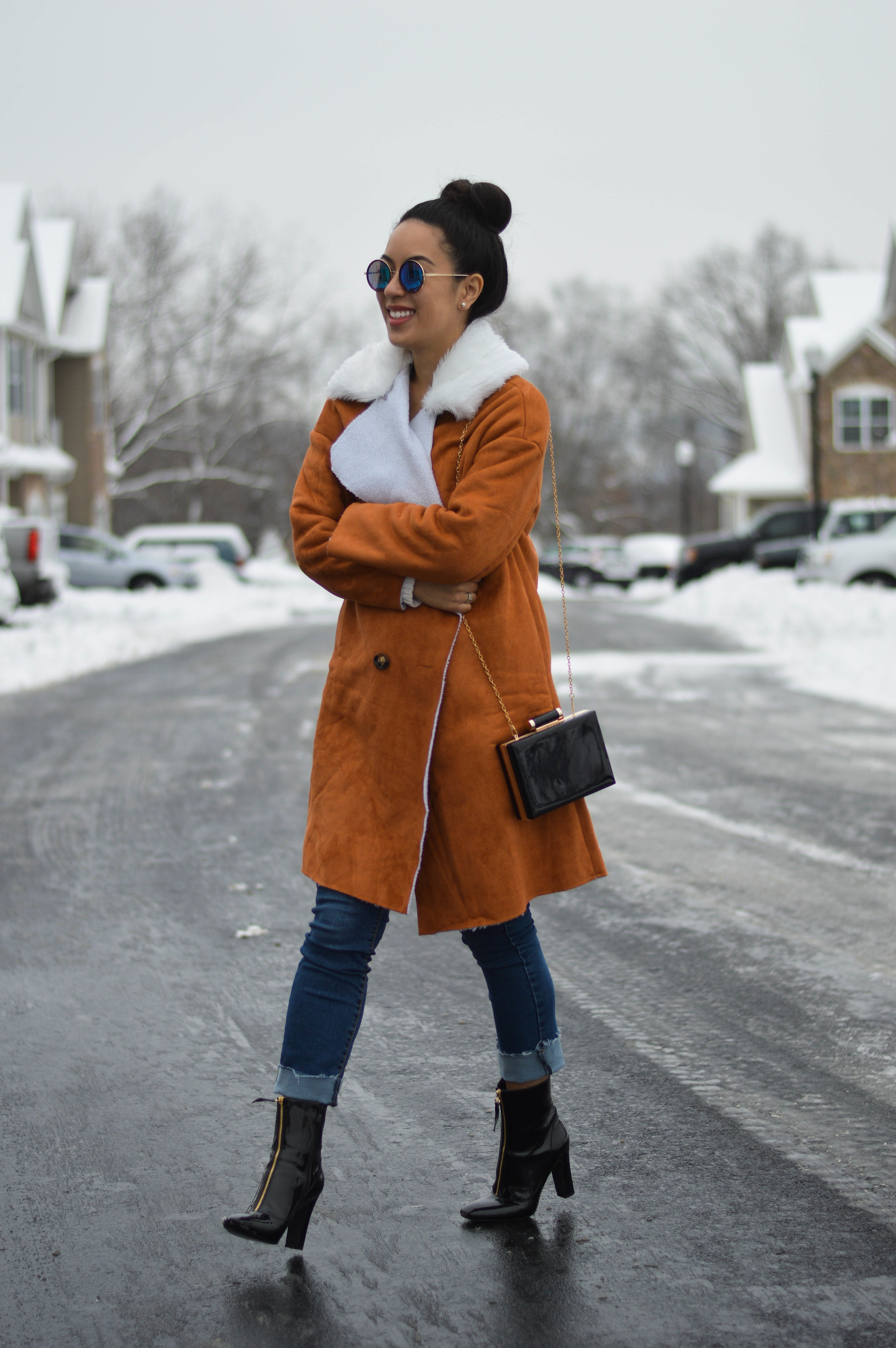 suede coat make me chic