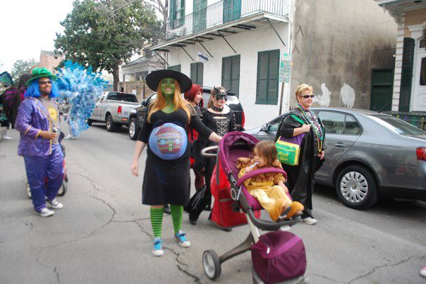 Pregnant with Baby Three.  Enjoying pregnancy hair and Mardi Gras.  My body was nearly ready to birth this baby.