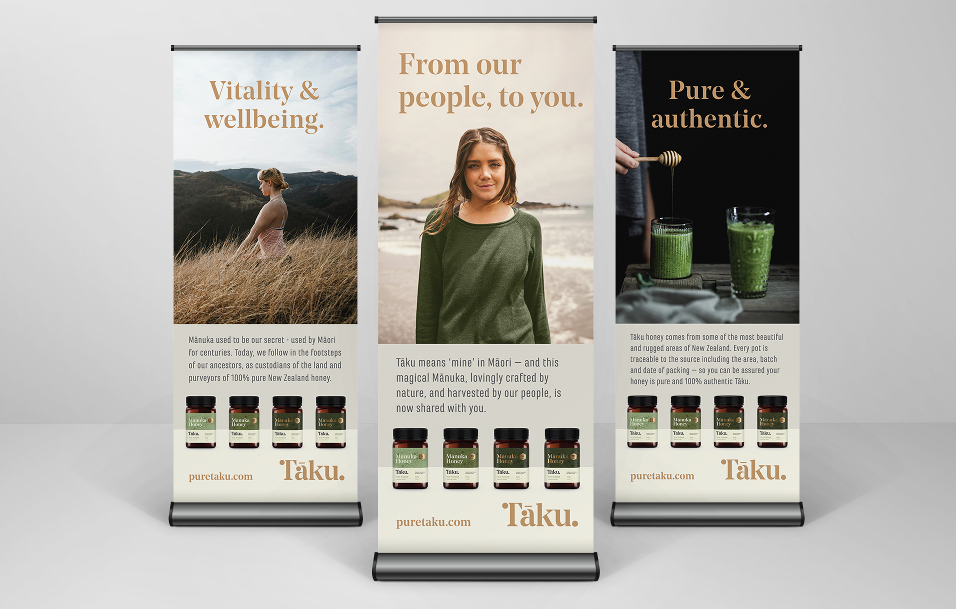 Pure Taku | Pull Up Banners