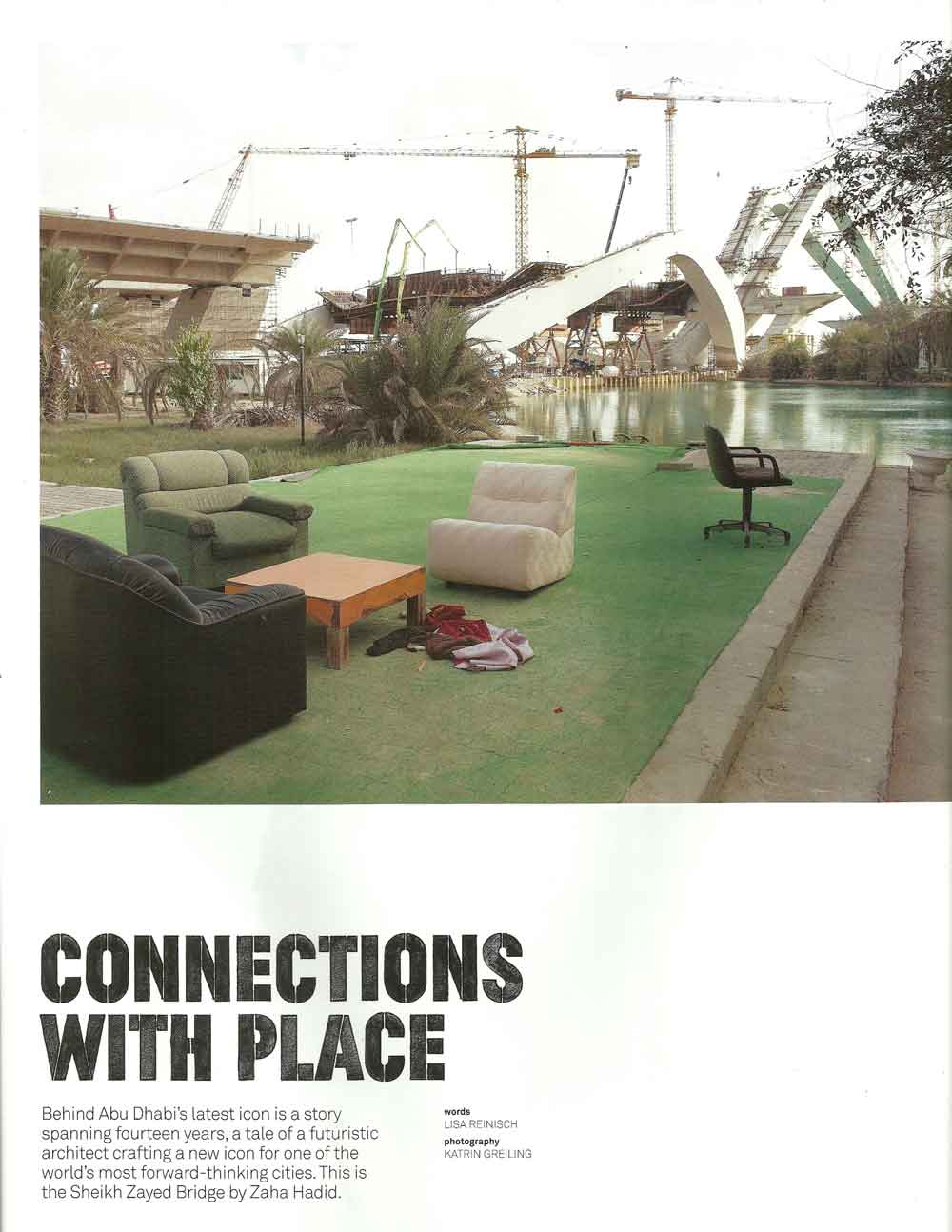 Much to our delight, the images chosen by Australian magazine artichoke revealed the human perspective of longterm construction projects.Click image to open PDF.
