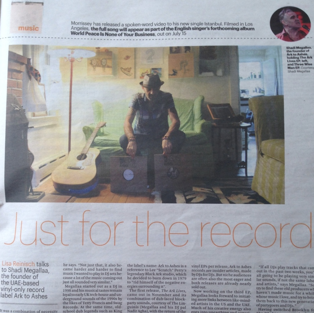 A piece for The National's Arts & Life section about Abu Dhabi's first vinyl-only record label, Ark to Ashes, founded by Shadi Megallaa. Click image to open.