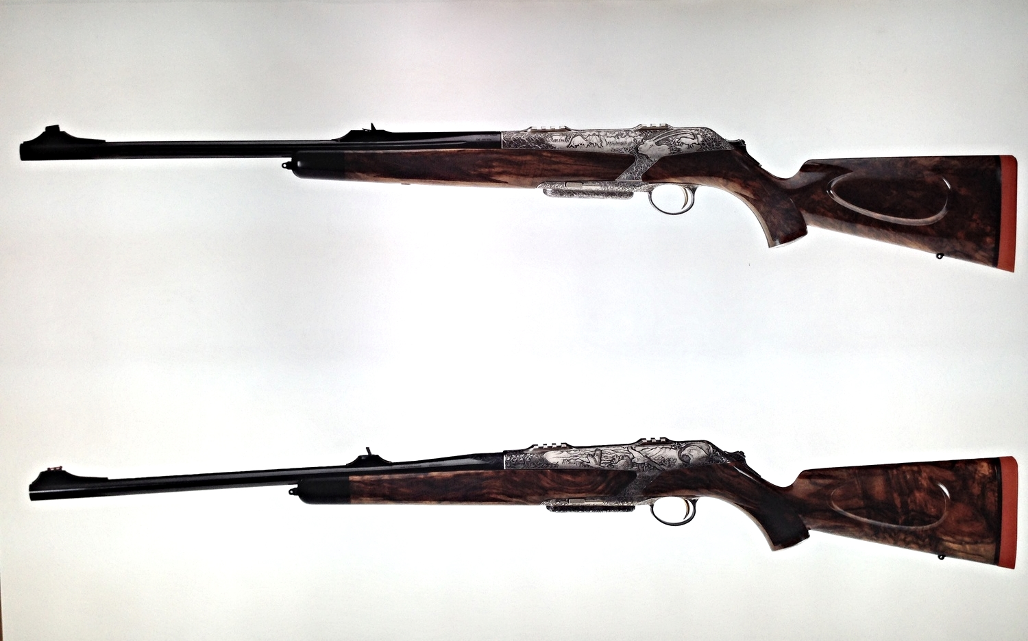 Custom-made rifles by Austrian gunsmiths Fuchs Fine Guns at Adihex 2014.