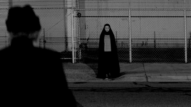 A still from Ana Lily Amirpour's debut feature, A Girl Walks Home Alone at Night.