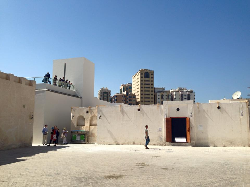 Visitors explore the SAF Art Spaces at the Sharjah Biennial 12.