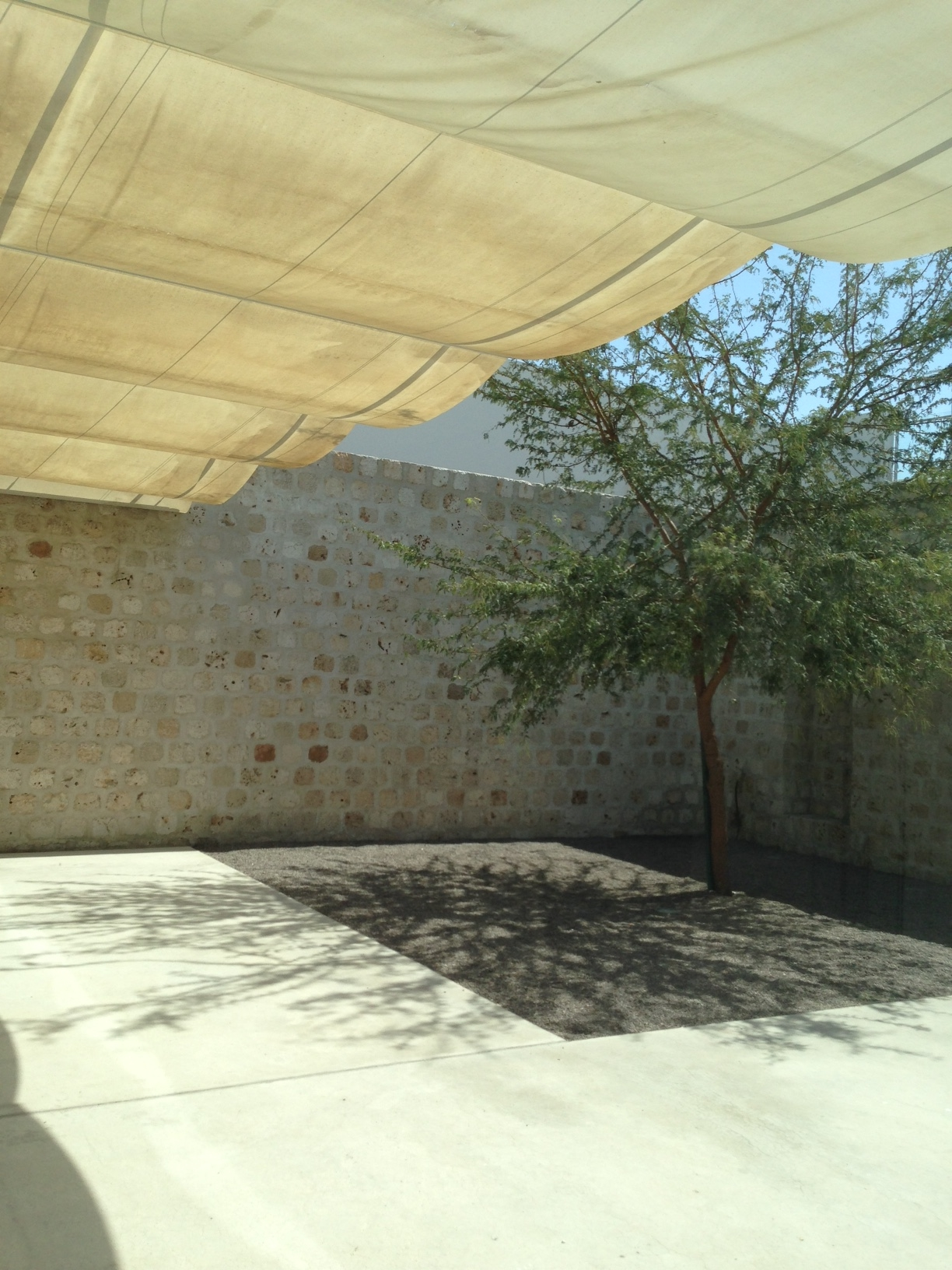 ... or a shaded courtyard...
