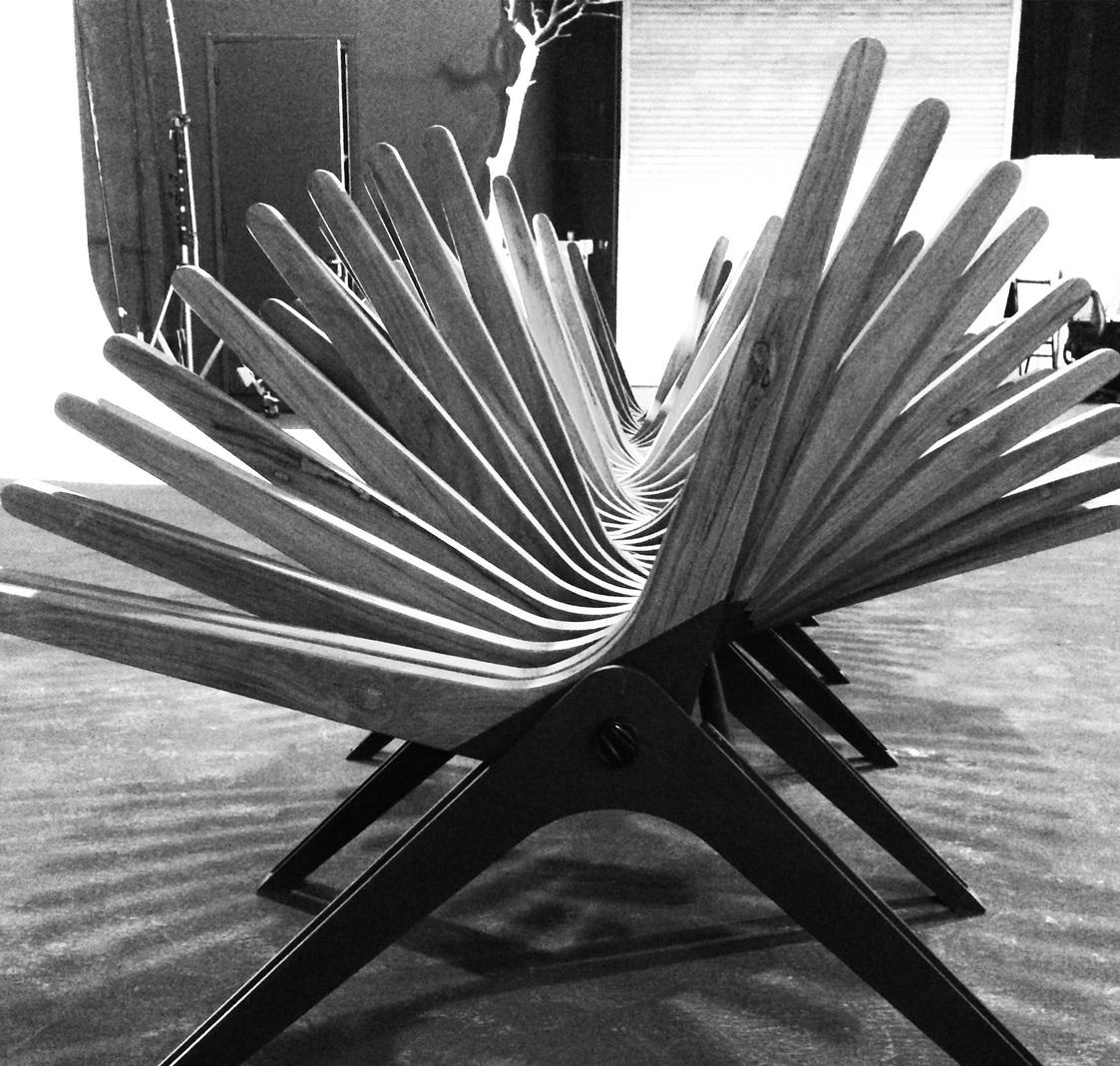 Anna Szonyi's Boomerang Bench, winner of the Urban Commissions design contest.
