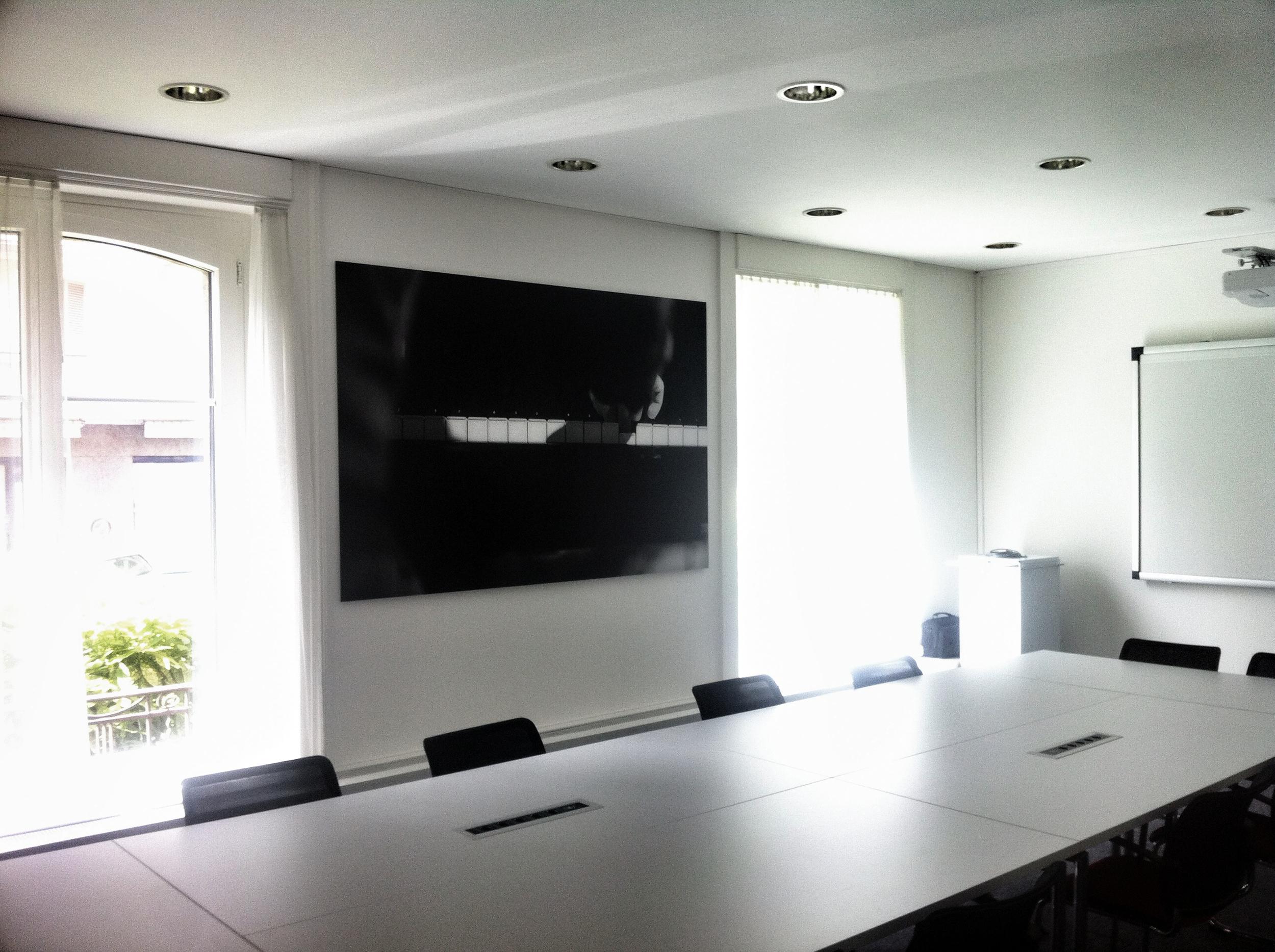 Nouvelle salle de conférence - SUISA Lausanne    Tirage baryté sur support en aluminium 220x145cm