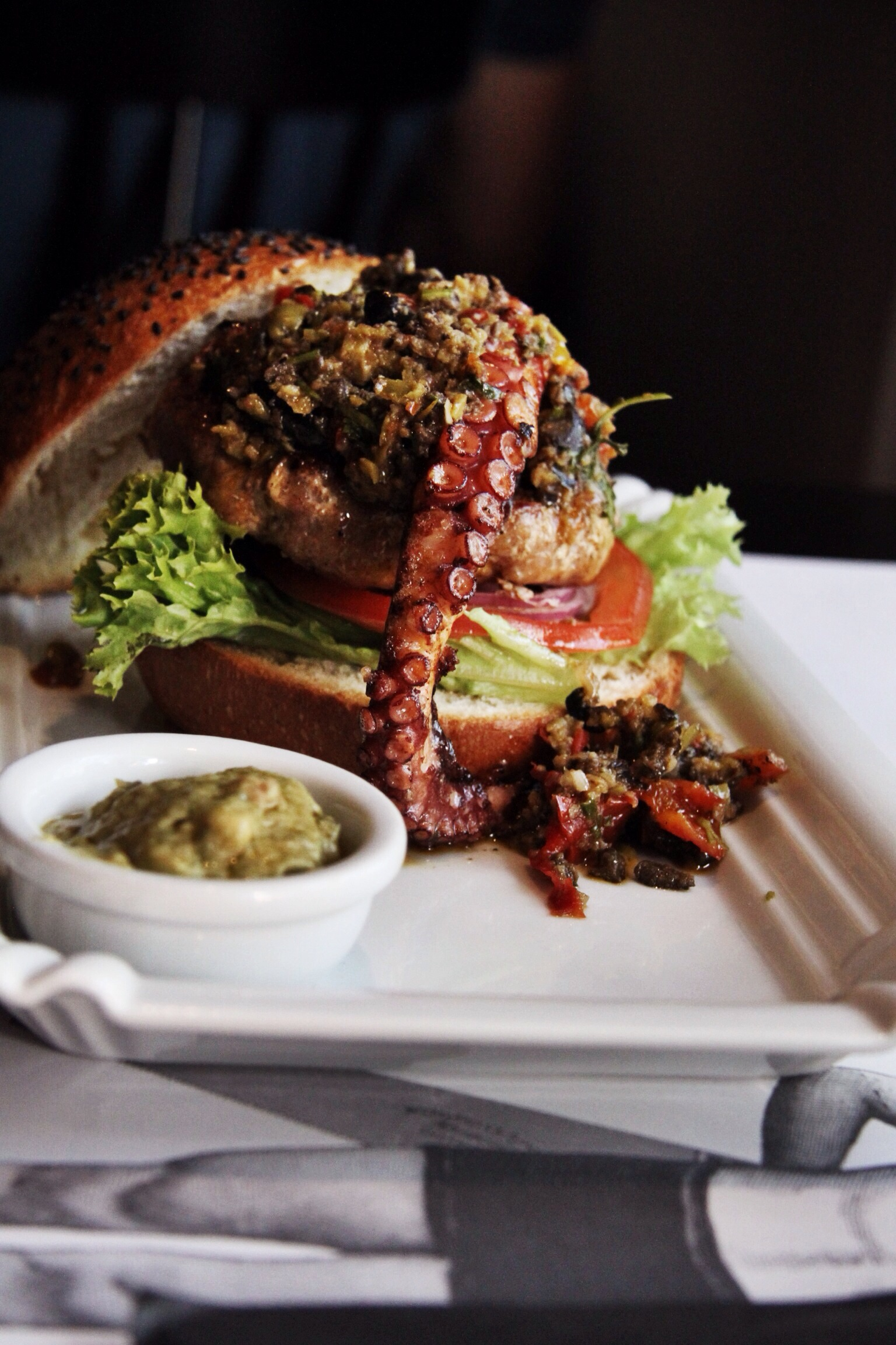 The Pulpo 'n' Pork Burger