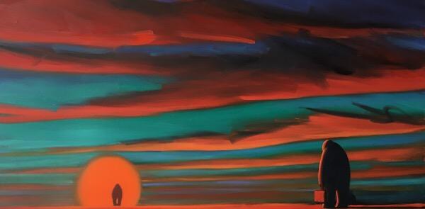 'Returning' oil on canvas