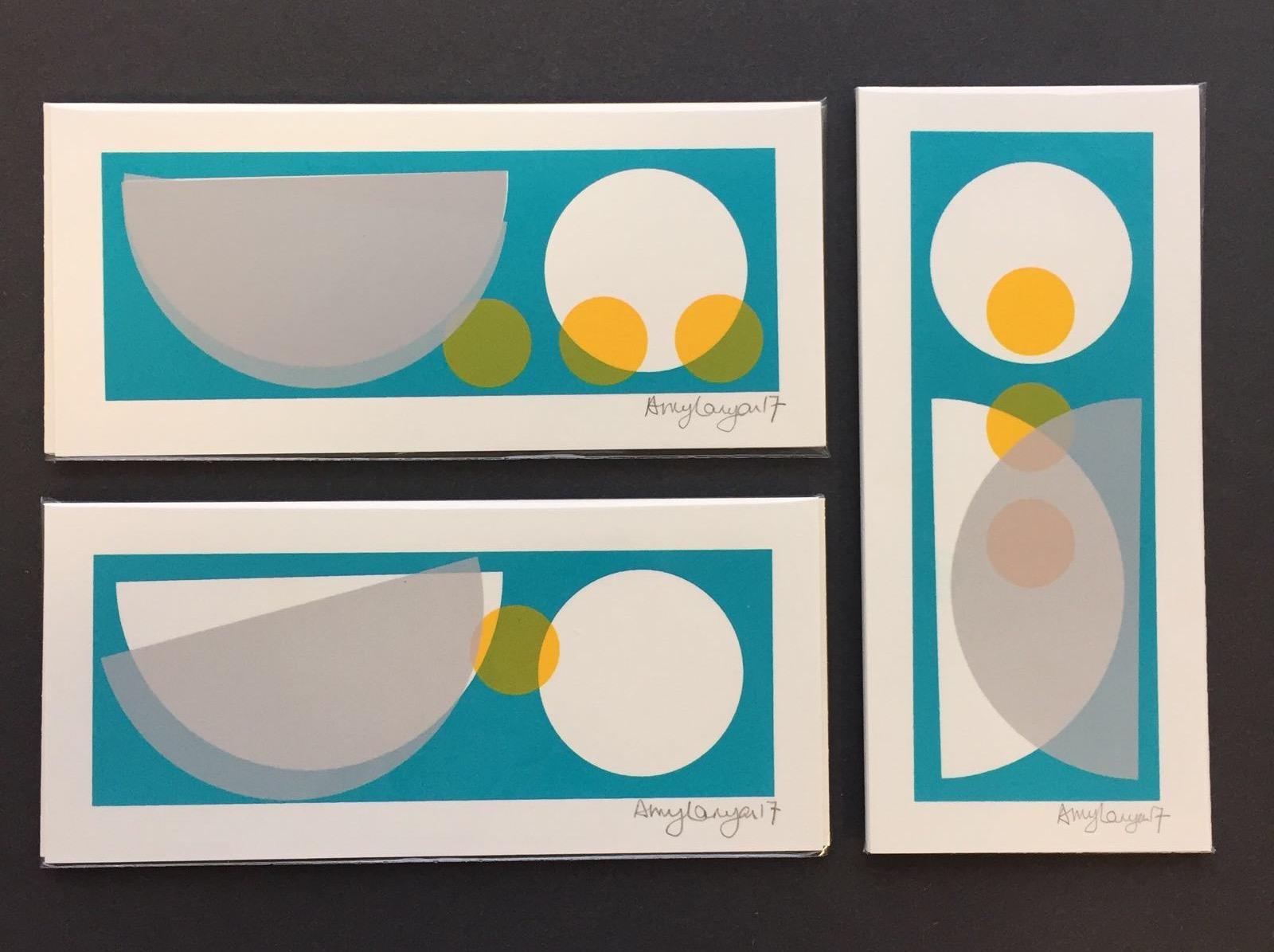Original, one off screen prints. 9cm x 19.5cm.