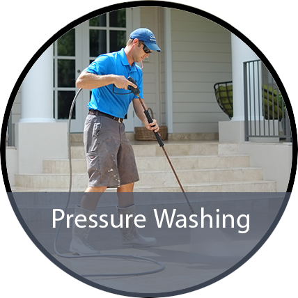 Pressure washing call to action image