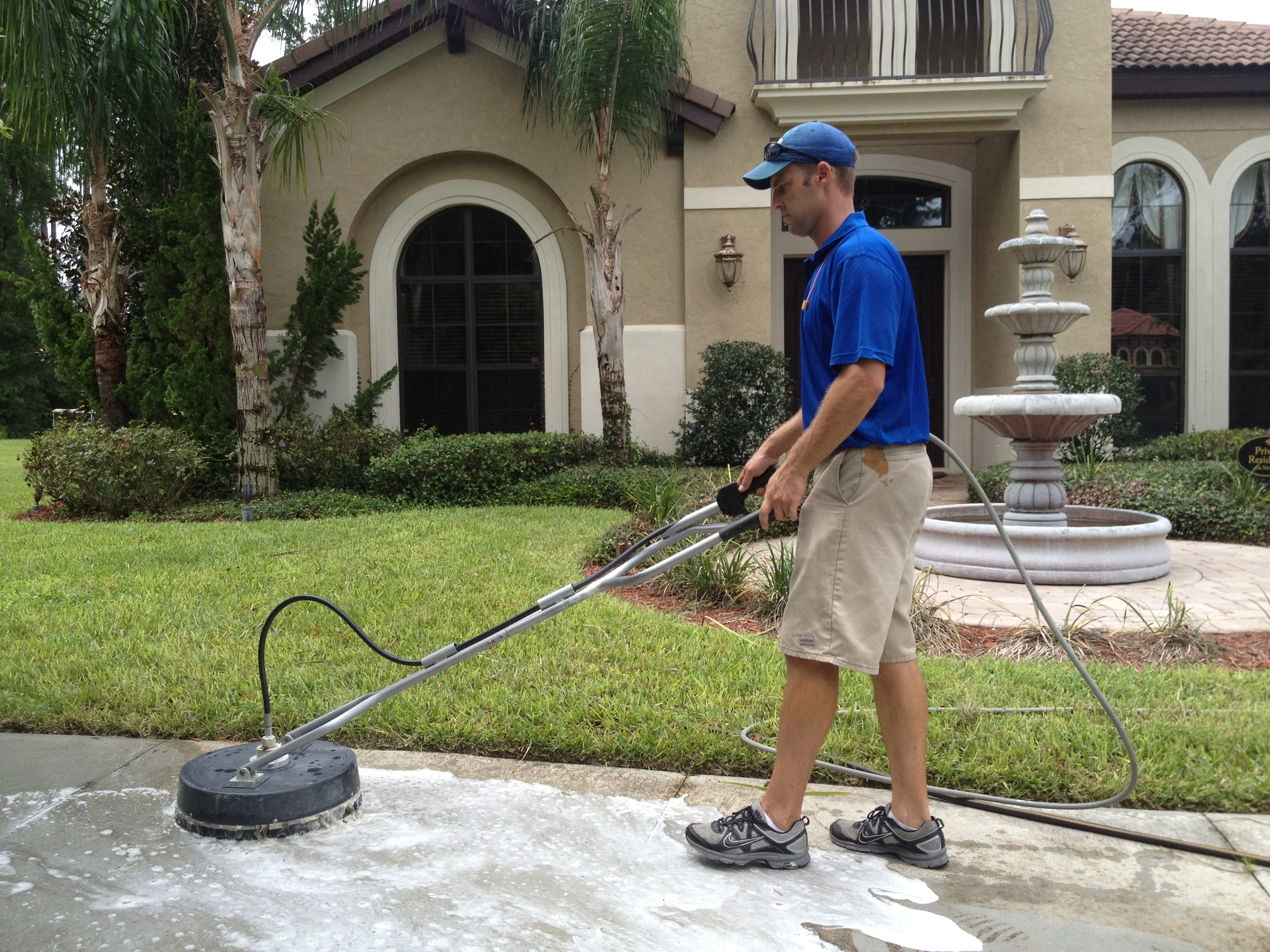 Pressure washing your driveway