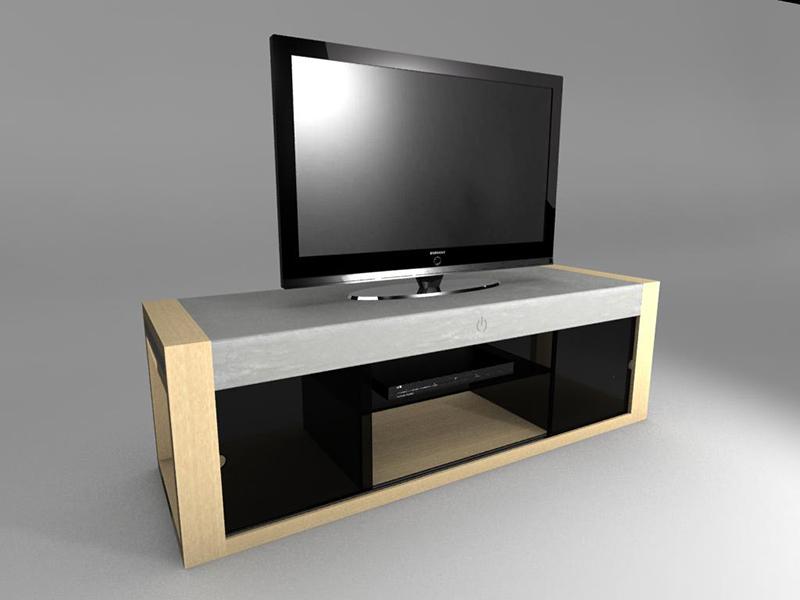 Concrete Life - TV cabinet