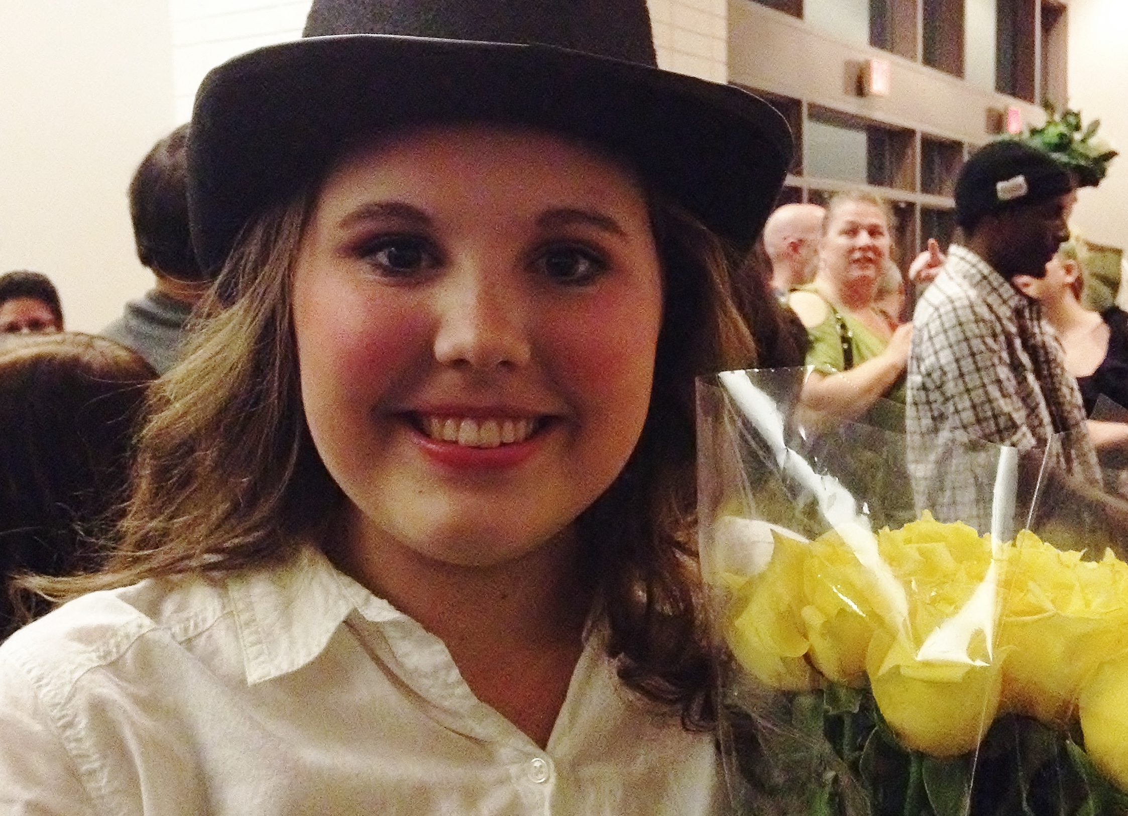 Olivia.  Beaming.  Spring Musical 2014.