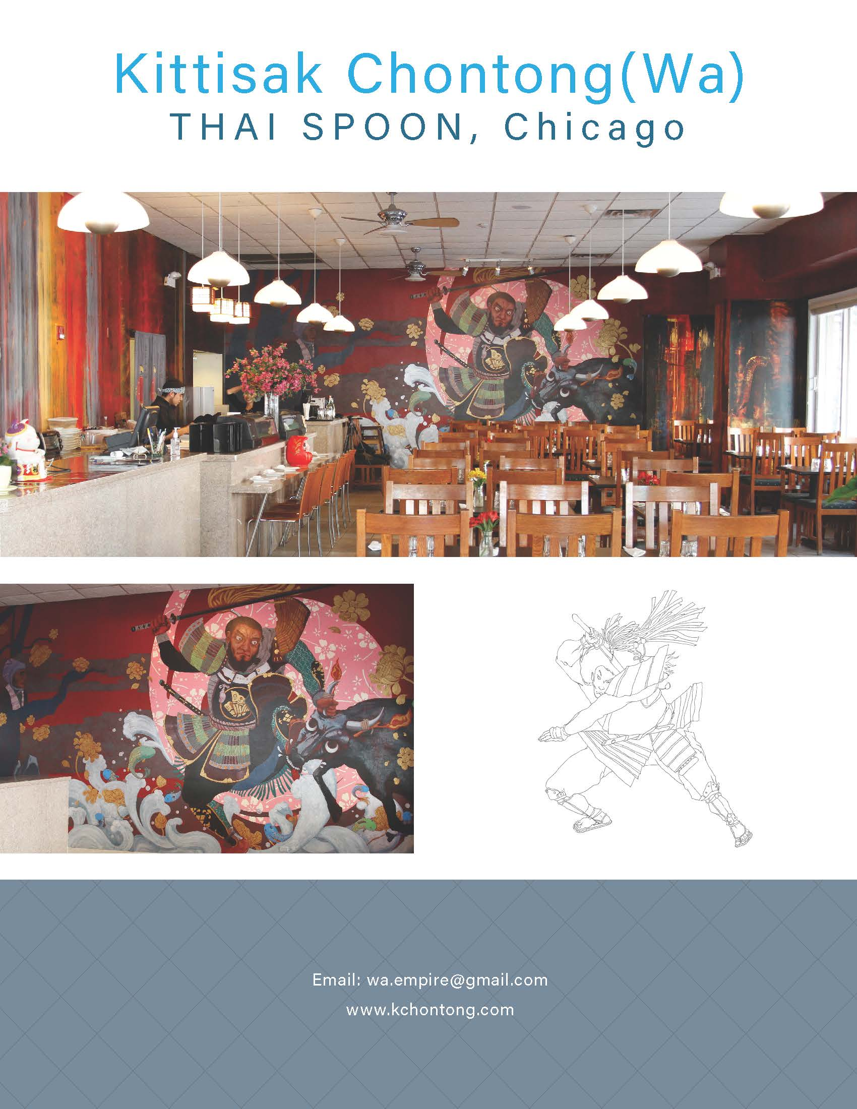 Mural painting for Thai Spoon, Chicago