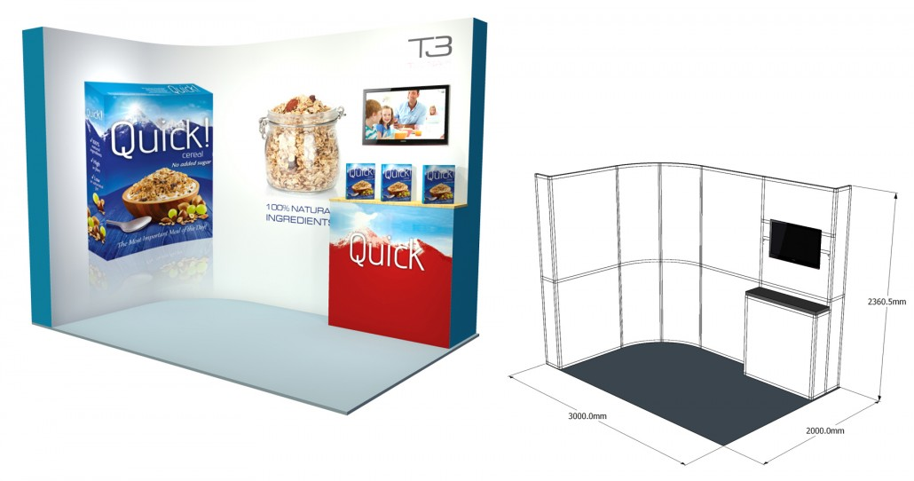 SSK 15   3×1 Stand, Stand Size: L:3000 x W:1000 x H:2360.5mm