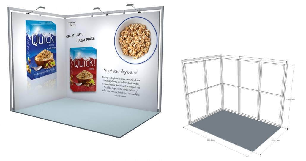 SSK 01   3×2 Stand, Stand Size: L:3000 x W:2000 x H:2360.5mm