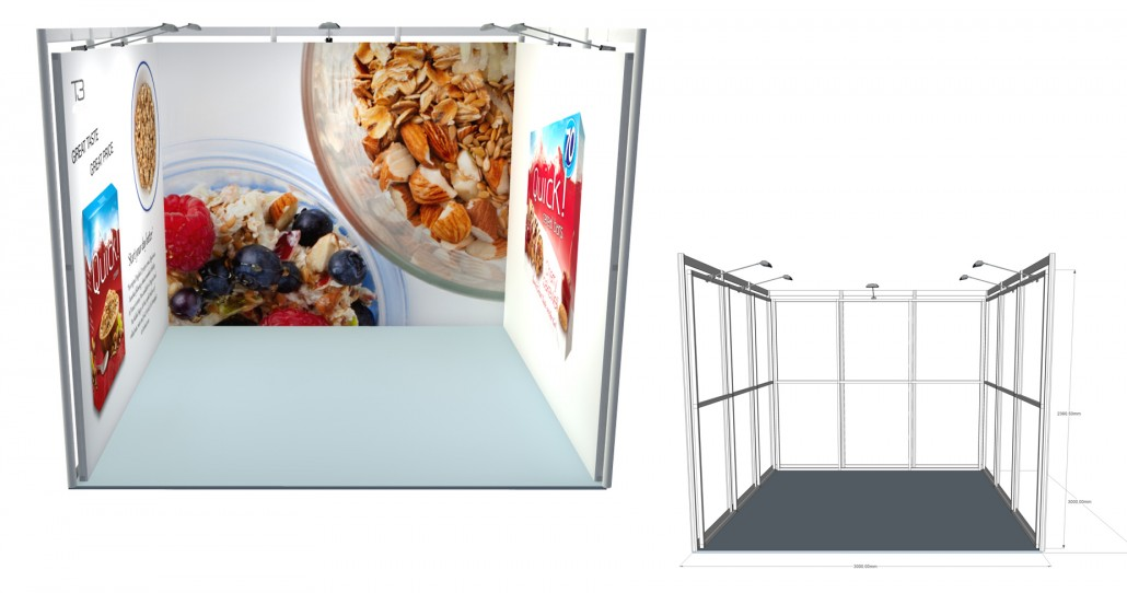 SSK 17   3×3 Stand, Stand Size: L:3000 x W:3000 x H:2360.5mm