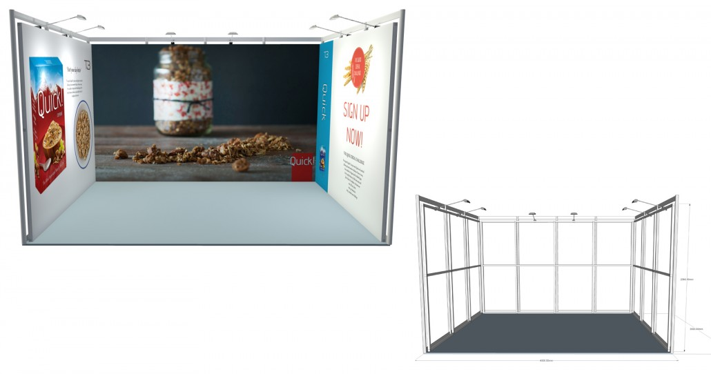 SSK 19   4×3 Stand, Stand Size: L:4000 x W:3000 x H:2360.5mm