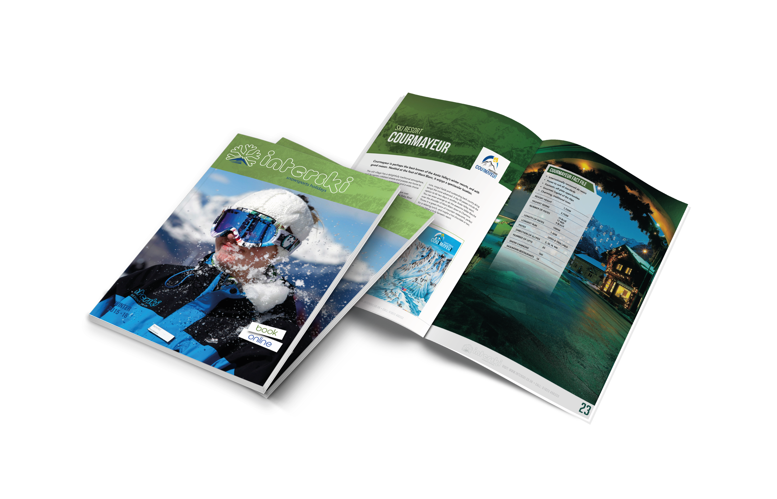 2015/16 Brochure Design for Interski, a Snowsports Holiday Company