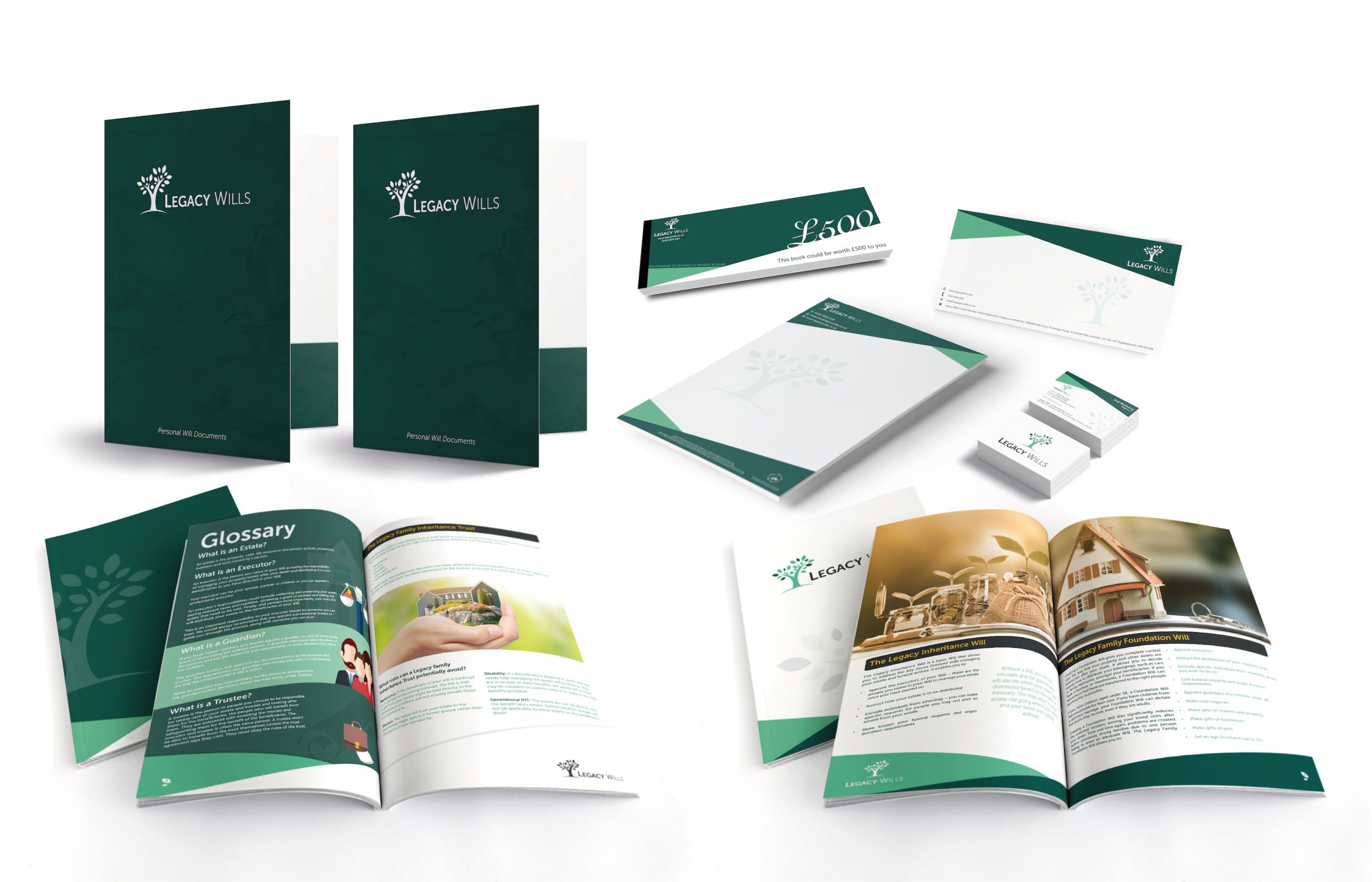 Corporate Literature Design for Legacy Wills, Leicester