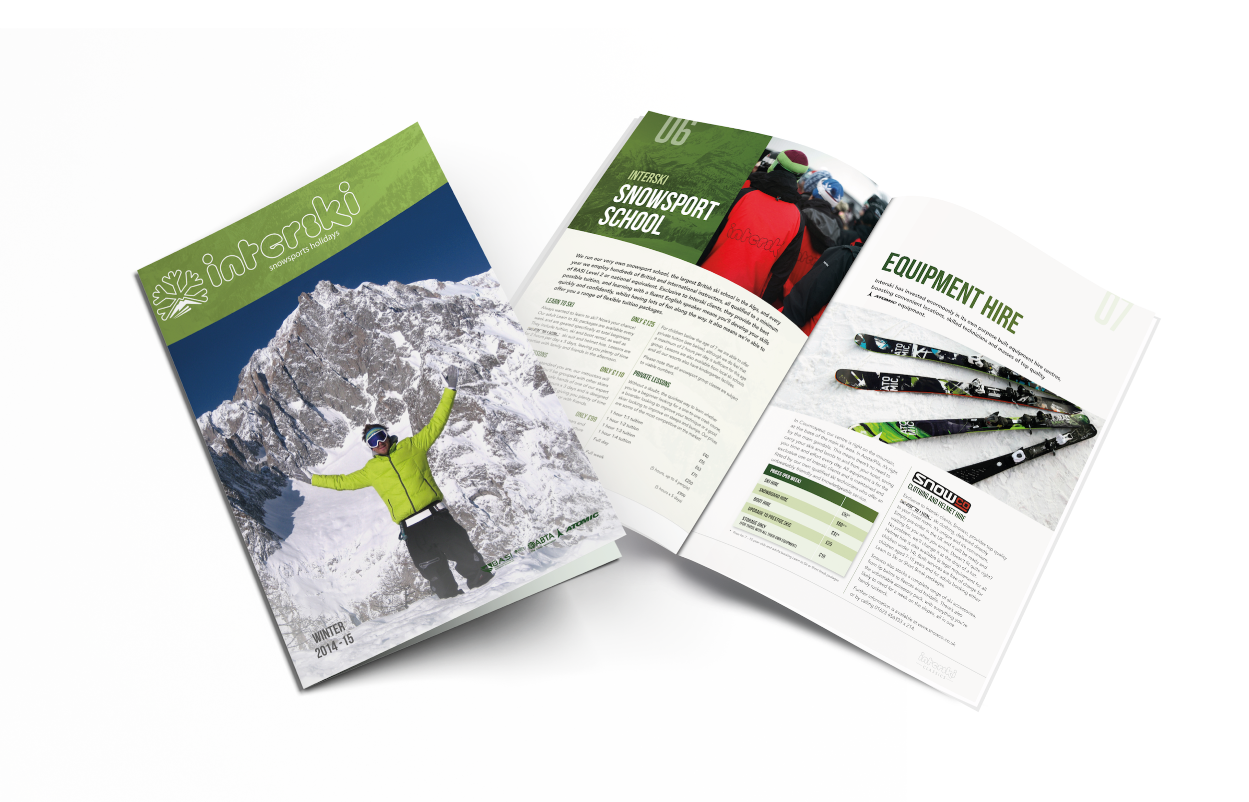 2014/15 Skiing Holiday Brochure Design for Interski, a Snowsports Holiday Company