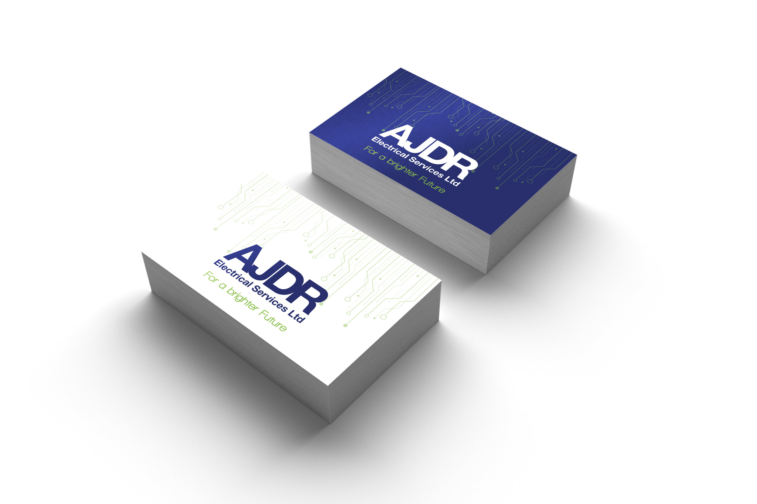 Business Card Design for AJDR Electrical