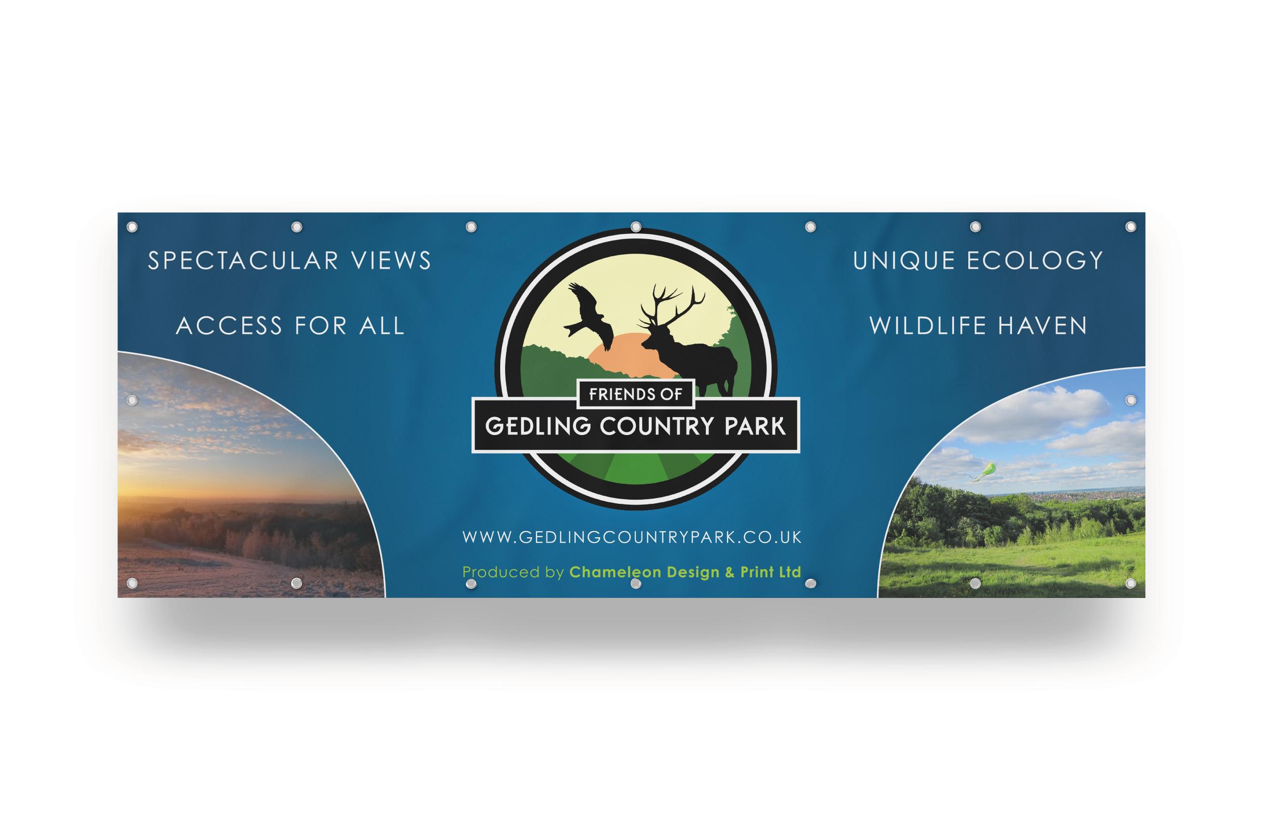Gedling Country Park Sponsor Banner
