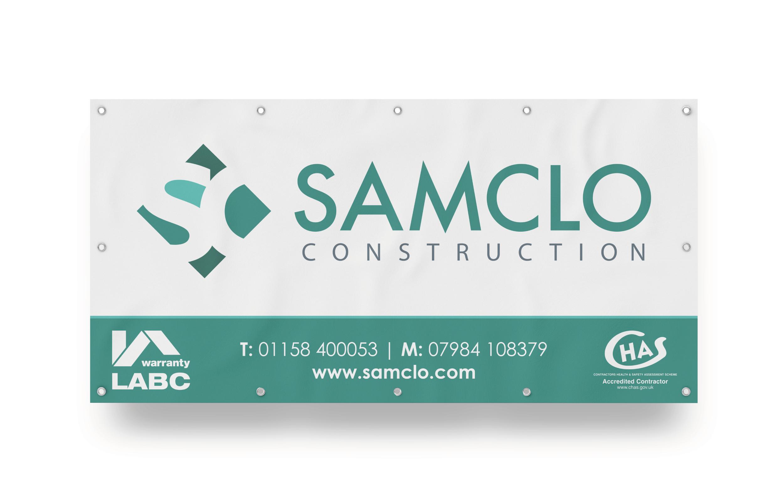 Samclo Construction PVC Banner