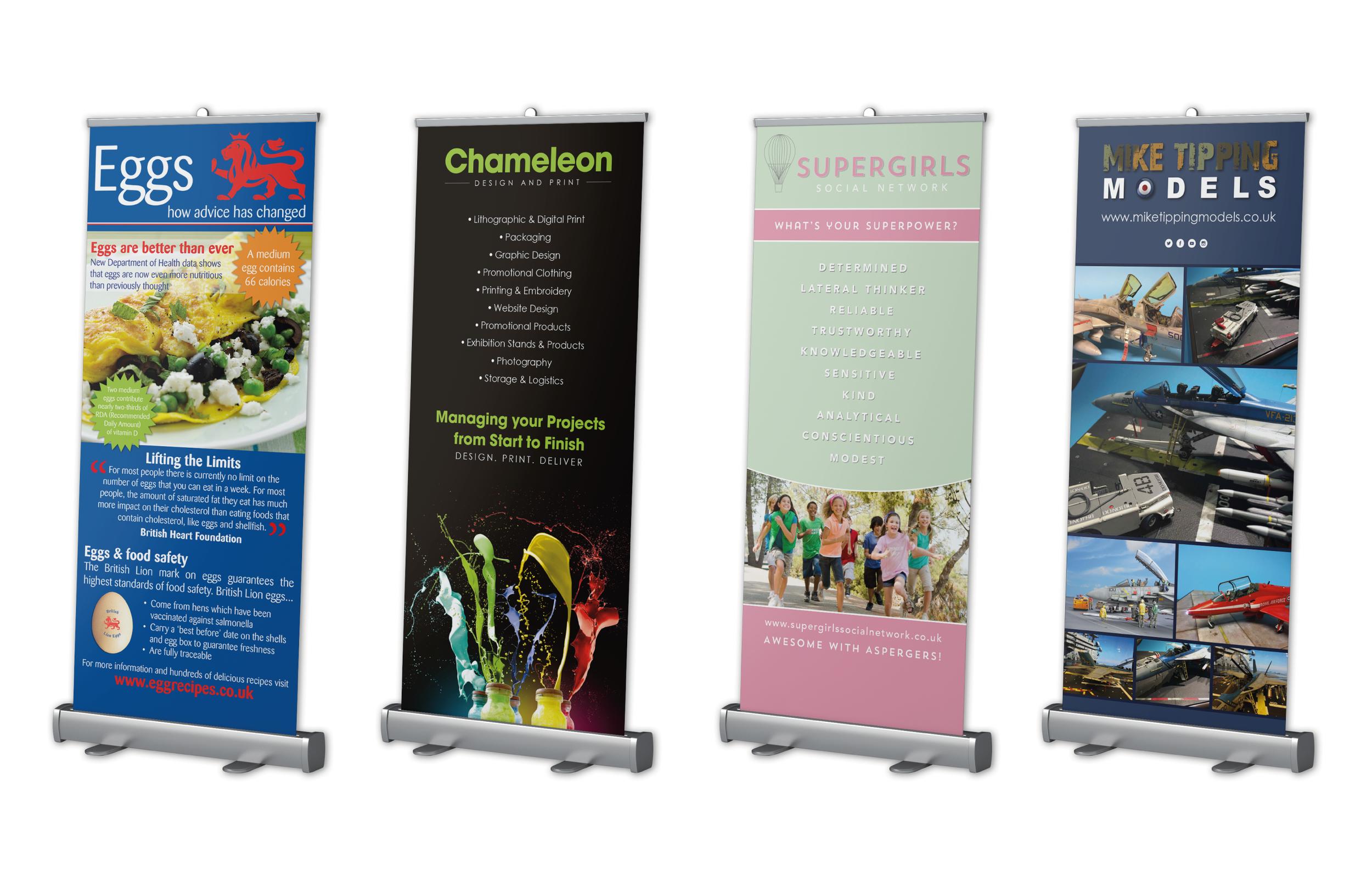 Various Roller Banner Designs