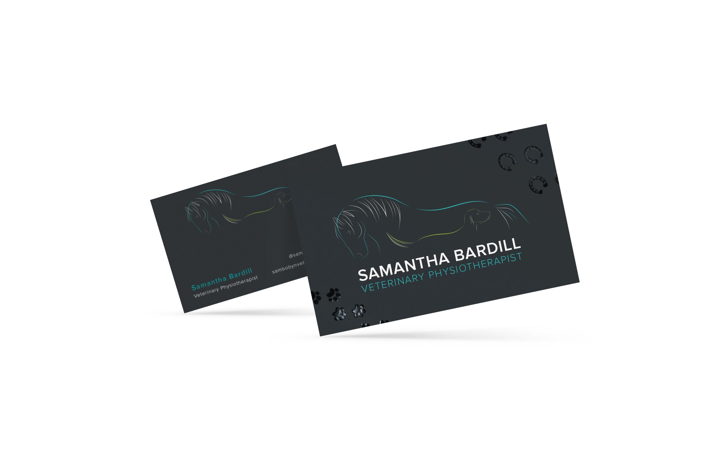 SPOT UV Veterinary Physiotherapist Business Card Design