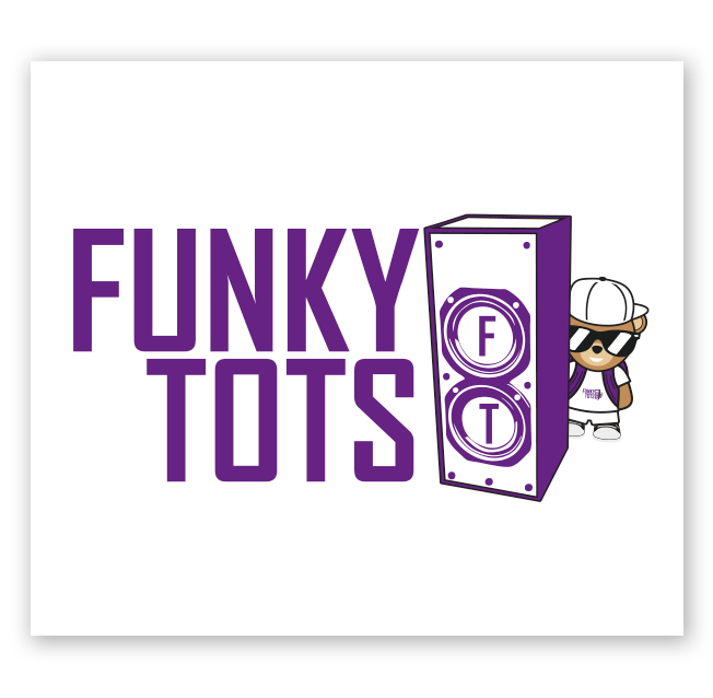 Funky Tots Logo Design for Freedom Factory