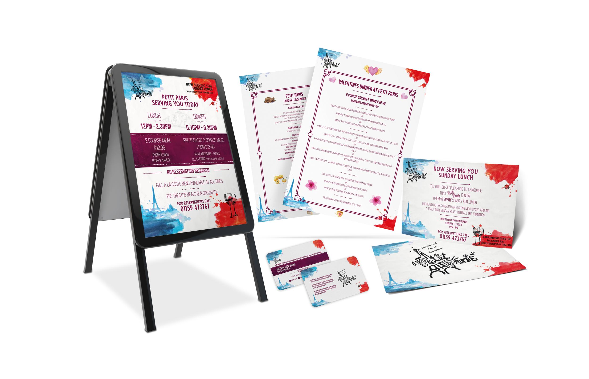 Restaurant Design and Print for Petit Paris