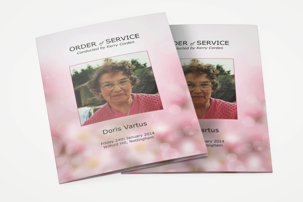 We understand that planning a funeral is hard enough, therefore we can take the stress off you and design and print all of your printing needs including your order of services.
