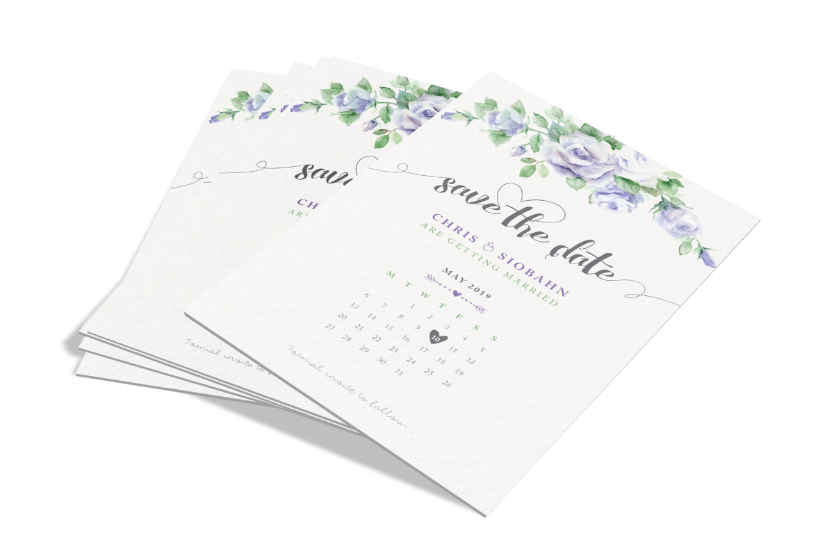 Wedding Stationery is a huge part of your big day. We can create the perfect stationery for you including Save the Dates, Invites, Envelopes, Posters & Postcards. With textured papers, Spot UV & Foiling, we can create the perfect look for your wedding!