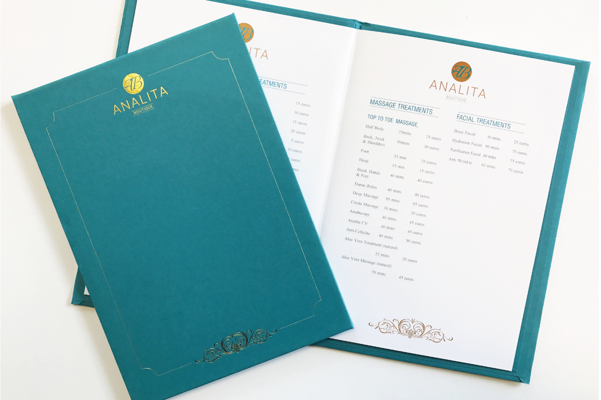 Menus are an important piece of print for Restaurants, Take-aways, Salons & Businesses within Retail & Beauty. We can print menus at any size - folded or unfolded. We also offer special finishing techniques so menus can be wiped clean after being around greasy hands in restaurants or salons.
