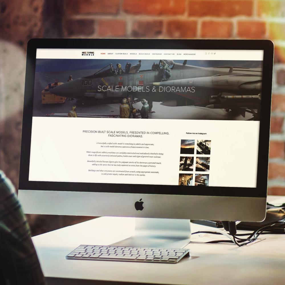 Mike Tipping Models Website Design