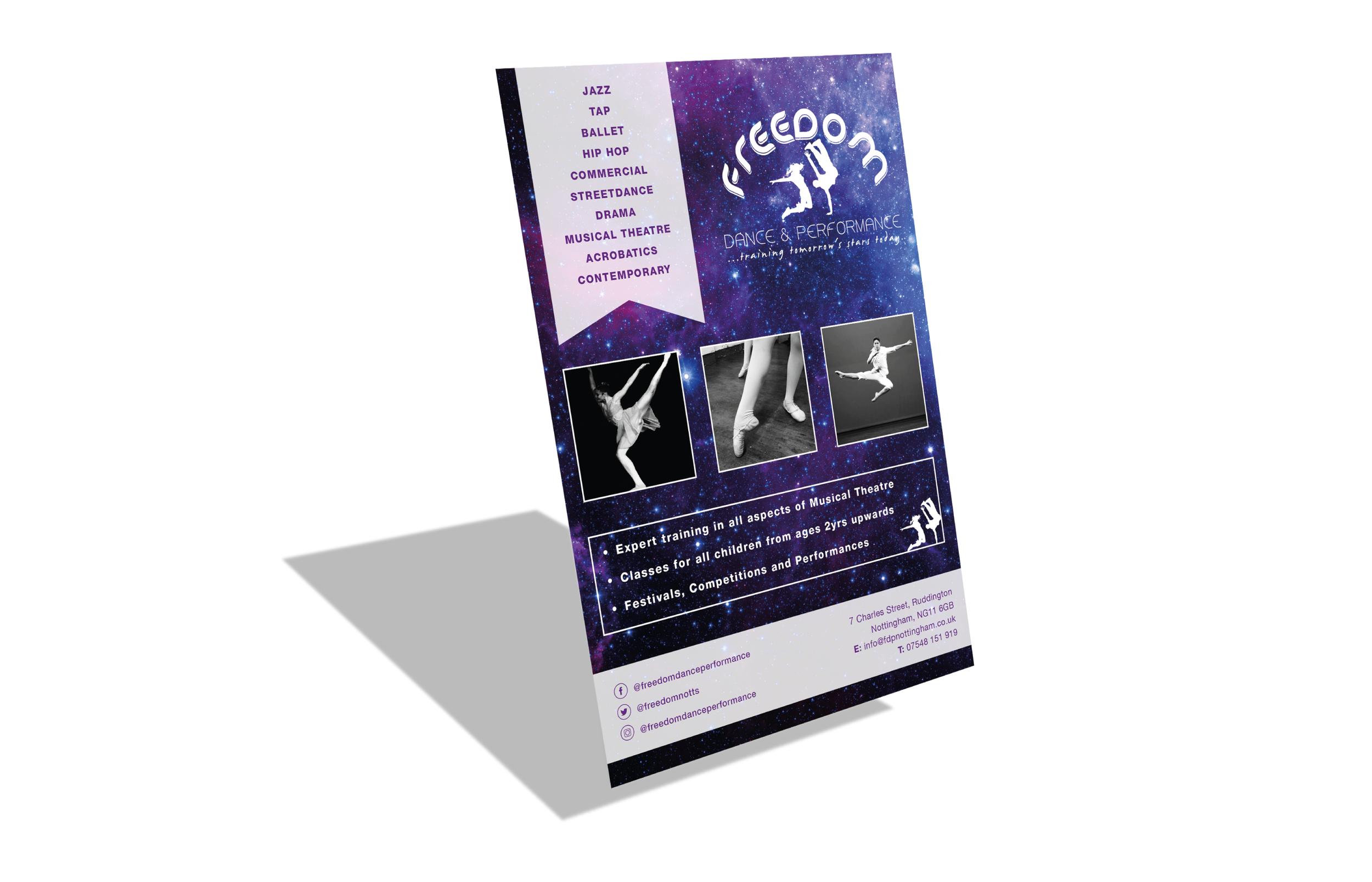 Dance school advert design