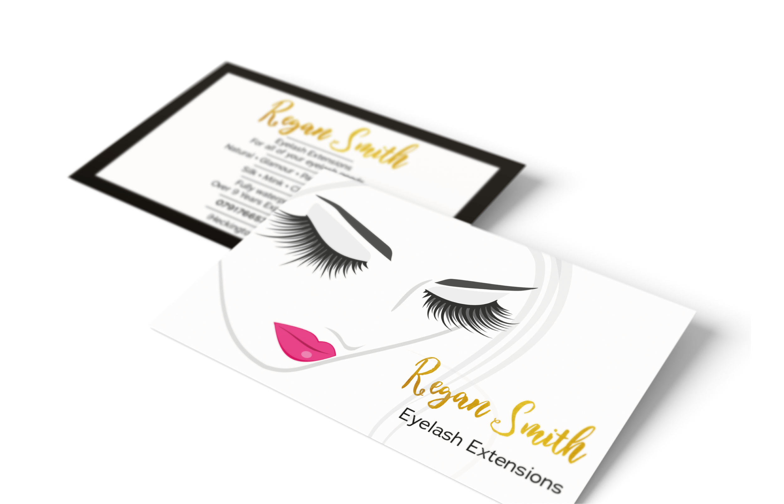 Eyelash Extensions Business Card Design and Print Nottingham