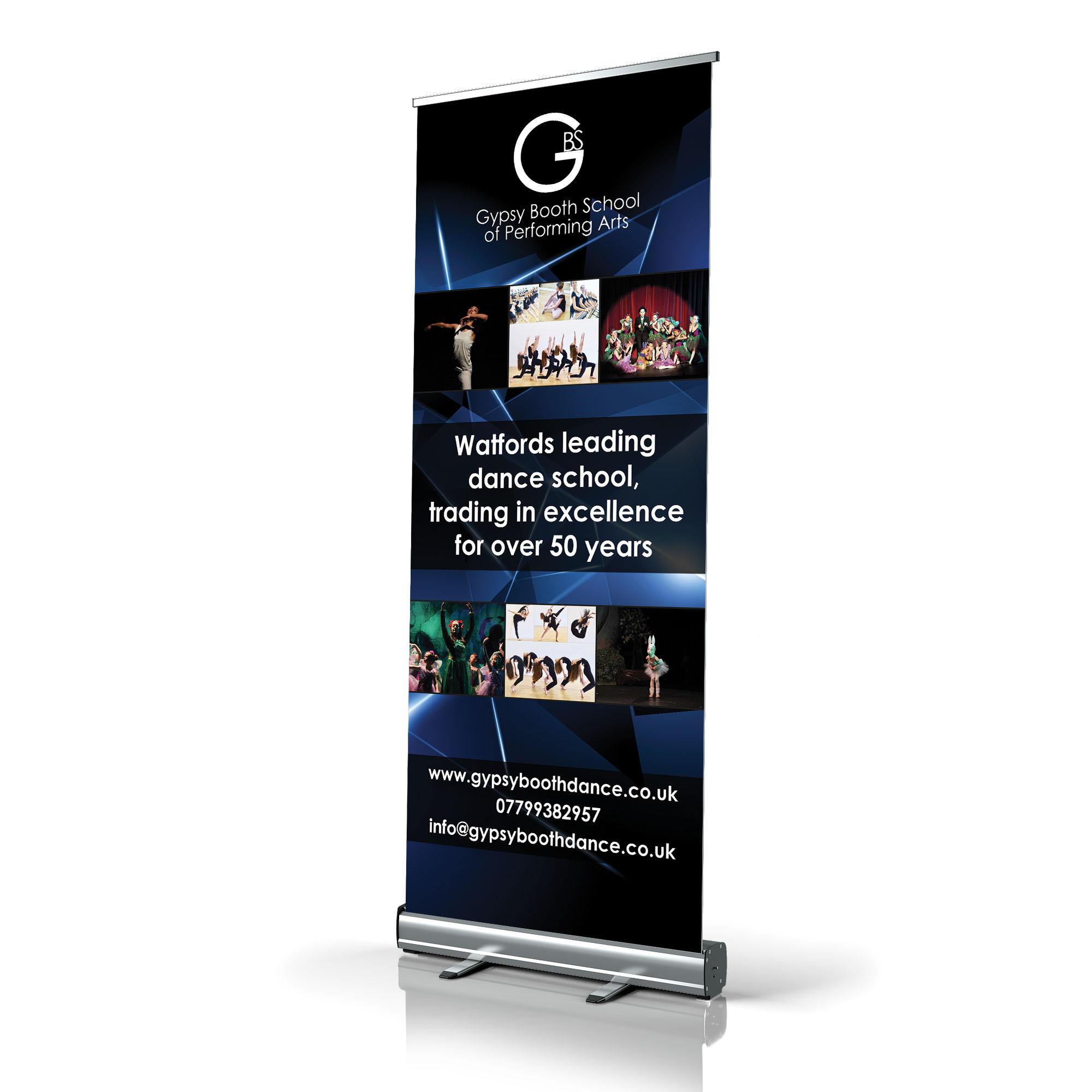 Gypsy Booth Roller Banner Design and Print