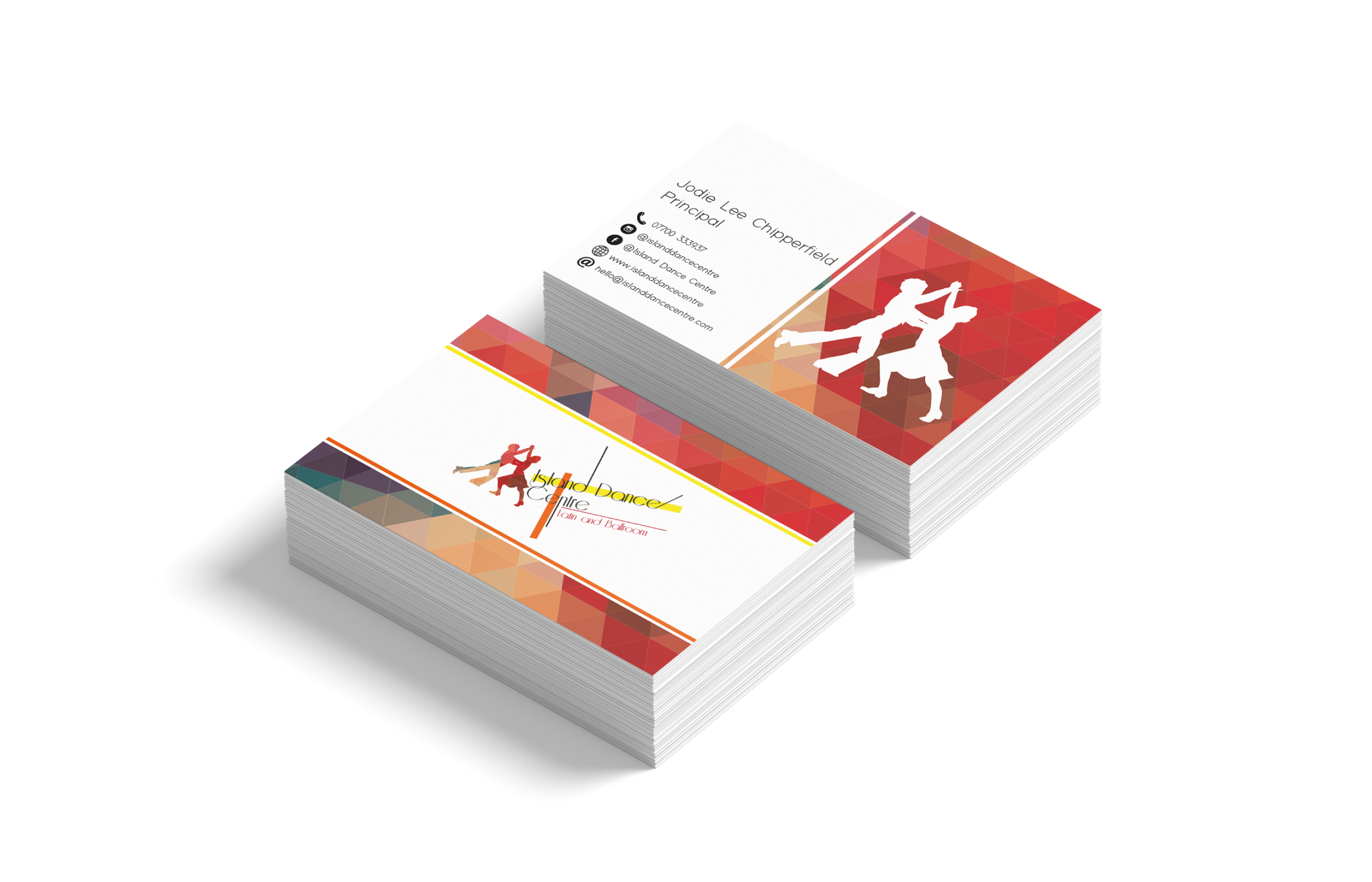 Island Dance Centre Business Card Design and Print