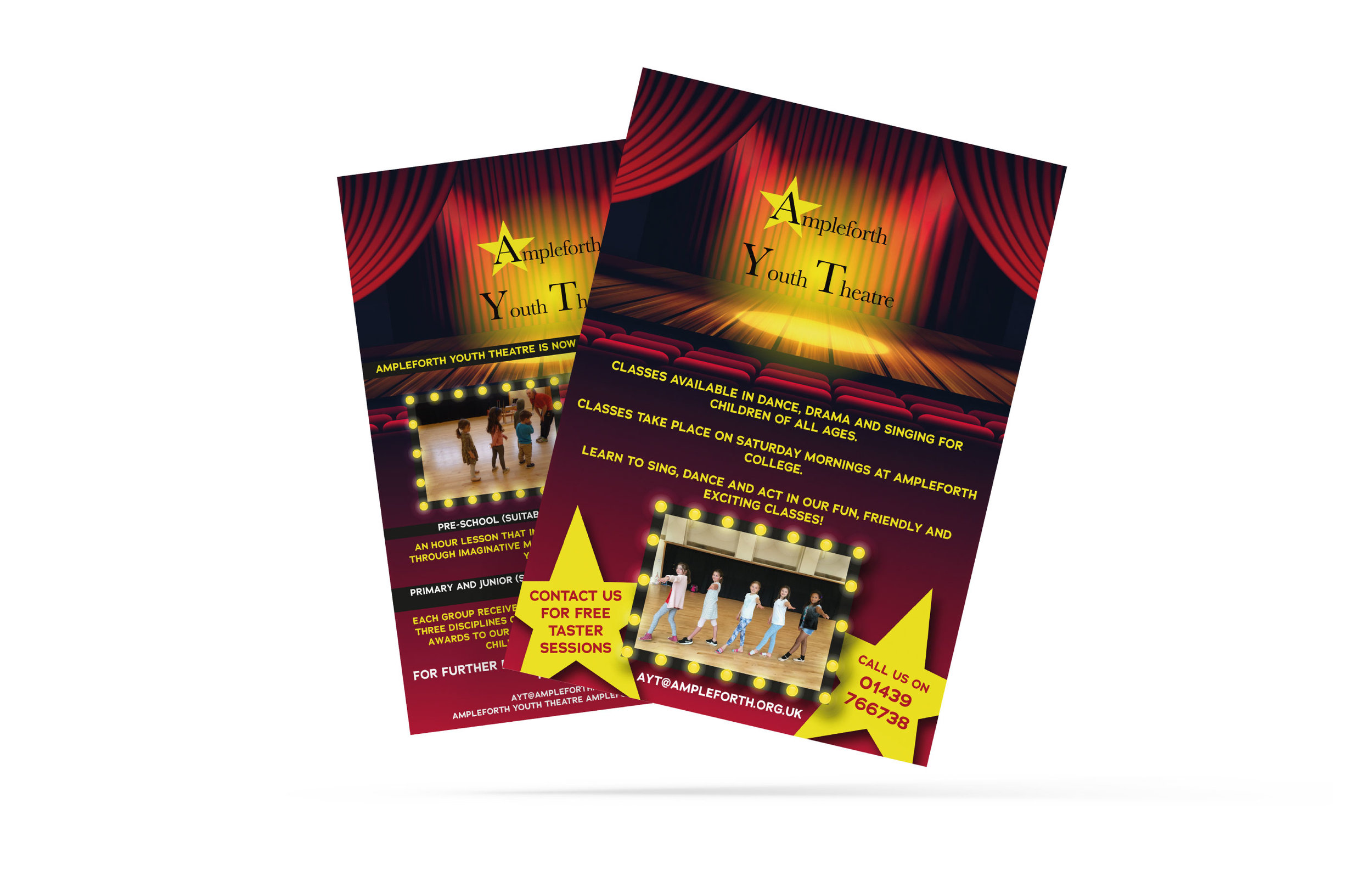 Ampleforth Youth Theatre Design and Print of A5 Flyers