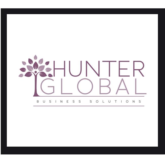 Hunter Global Business Solutions Logo Design